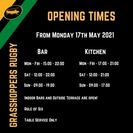 Reopening Times From May 17th