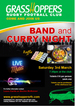 Social: Band and Curry Night