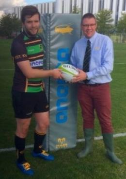 New Club sponsor presents first match ball