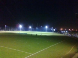 Our new floodlights have been installed