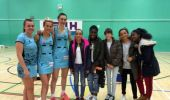 Grasshoppers Junior Netballs get tips off England Netball players